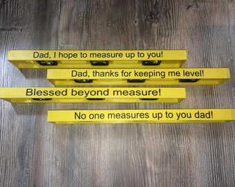Fathers Day Level, Personalized Level, Personalized Level and Ruler, Gift For Him, Fathers Day.