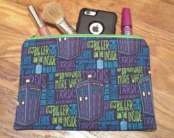 Doctor Who Phrases Zipper Pouch