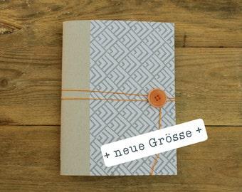 handmade note-book grey on white