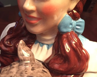 Rare Retired Vandor Limited Edition Wizard Of Oz Cookie Jar, Dorothy And Toto, Outstanding Condition.
