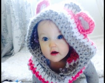 Crocheted Winter Hat With Ears