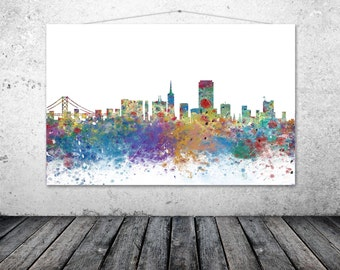 San Francisco Poster, San Francisco City Skyline, California Art Print, Silhouette, Limited Edition - SAN FRANCISCO 2