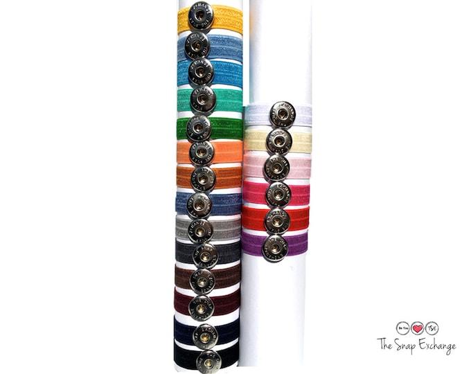Featured listing image: Hair tie bracelet, hair ties, charm bracelet, stretch bracelet, snap jewelry, hair tie charm, hair band, hair elastic, hair jewelry