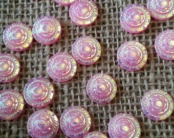 12mm Pink AB Resin Flower Cabochon