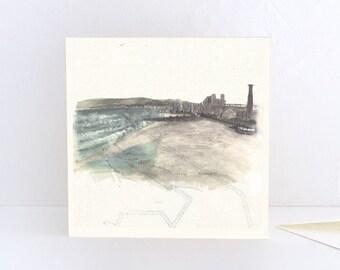 Portobello Beach, Portobello Promenade in Edinburgh, Scotland - Greeting Card