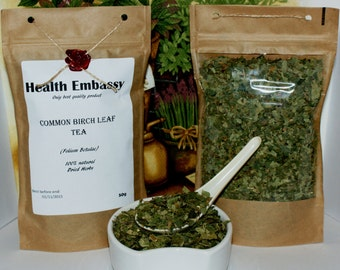 Common Birch Leaf Tea (Folium Betulae) 50g - Health Embassy - Organic
