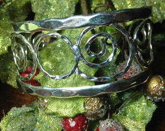 Beautiful Handcrafted Sterling Silver Cuff Bracelet