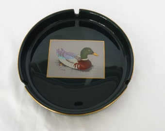 Gold-Accented Duck Ashtray or Catchall