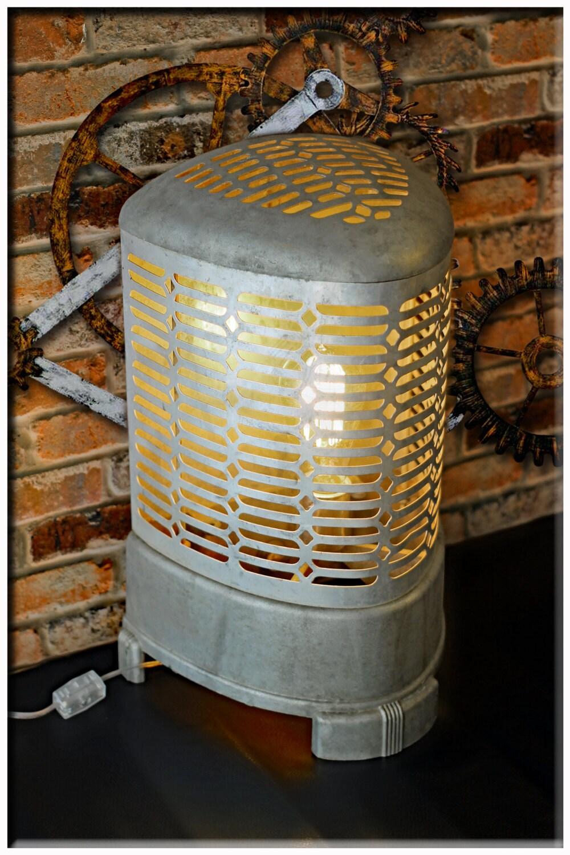 Industrial Vintage Wesix Art Deco Re Purposed Distressed Metal