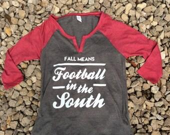 Football In the South Raglan Shirt