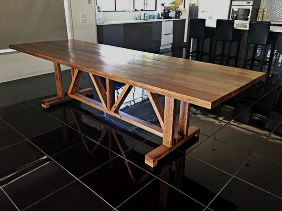 Recycled Timber Barn Farmhouse Dining Table By UpcycledWoodOZ