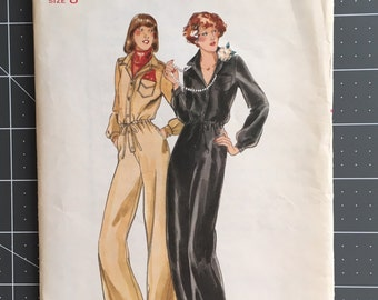 Vintage Sewing Pattern Butterick 5131 Size 8 1976 Jumpsuit