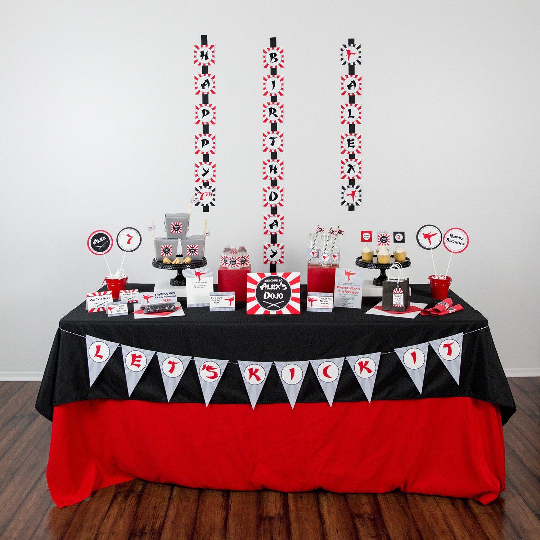 Ninja Birthday Party Decorations Instant Download Karate