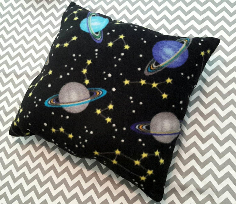 Solar system pillow boys bedding black fleece pillow for Solar system fleece