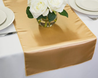 Gold Satin Table Runner | Wedding Table Runners