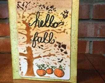 Hello Fall greeting card