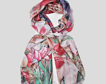Silk Modal shawl silk scarf