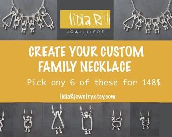 Mom custom necklace - Mom custom - Family necklace