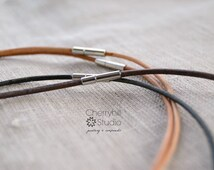 Leather Cord Necklace, Add a Necklace, Unisex Leather Cord Necklace, Leather Jewellery, Jewellery & Gifts