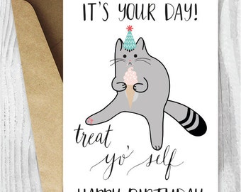 printable funny birthday cards black and white cat cards cat, Birthday card