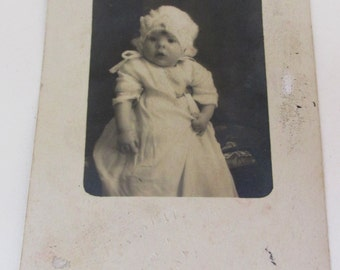 Antique 1926 Spanish Baby Photo Postcard - Seville