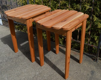 Adirondack Fan Back Style Table / Patio Table / Wood Table / End Table / Cedar Table / Adirondack Table