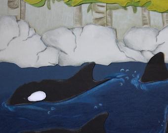 Orca pod print