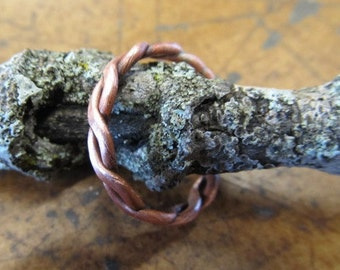 Industrial Twisted Copper Ring