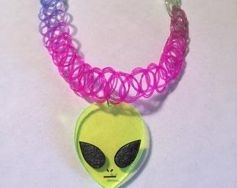 Rainbow Alien Choker