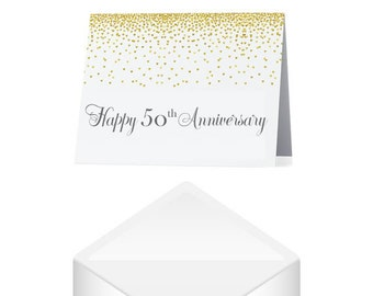 50th Anniversary Card- Gold Anniversary Card- Anniversary Greeting Card- Card for Couple- Congratulations Card- Golden Anniversary Gift
