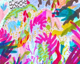 "Jungle Friends, 5x7"" prints"