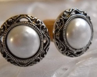 0g Plug, 00g Plug, 000g Plug (11mm), Faux Pearl Button Plug,