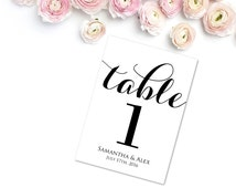 Personalized Table Numbers, Wedding Table Numbers, Printable Table Numbers, Customized Table Numbers, Editable Table Number Template, WBWD3