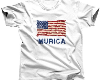 4th of July Shirt Men - American Flag - Murica - Patriotic - Independence Day - Memorial Day - Red White Blue - Veteran's Day - USA