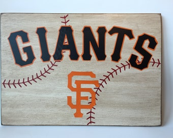 San Francisco Giants Baseball Wooden Sign