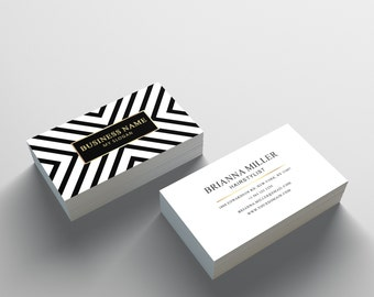 Business Card Template - 2 Sided Business Card Design - Appointment Card for Salon or Hair Stylist - Photoshop Business Card Template