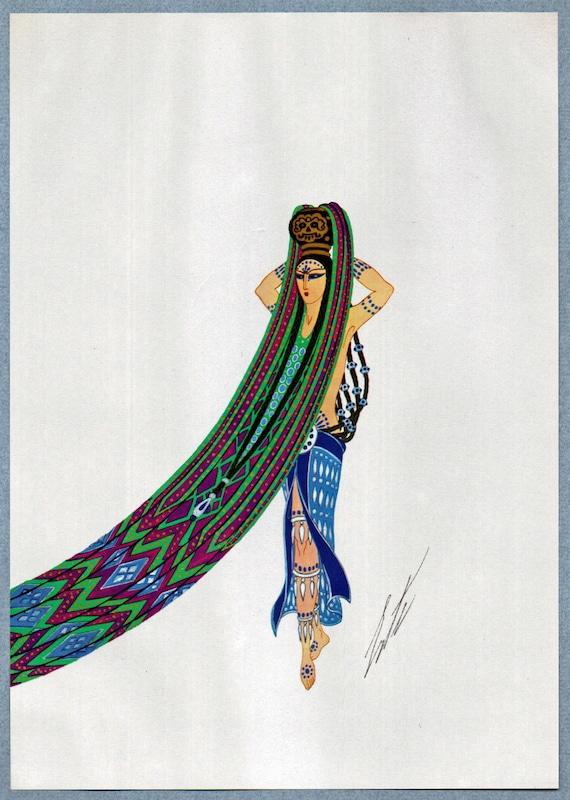 Amazon Woman Original Limited Edition Vintage Erte Art Deco