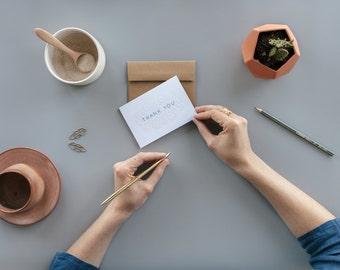 Box of 6 Järvsösöm Thank You Letterpress Cards