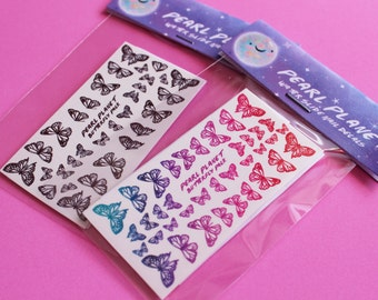 BUTTERFLY PACK - Gorgeous Butterfly Water Slide Nail Decals, Original Illustration!