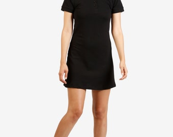 90's DEADSTOCK Polo Dress! - Black