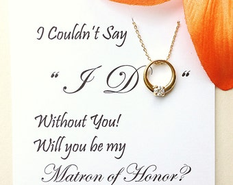 Will You Be My Matron of Honor Gift, Matron of Honor Card, Bridesmaid Invitation, Asking Matron of Honor Gift, Matron of Honor Proposal