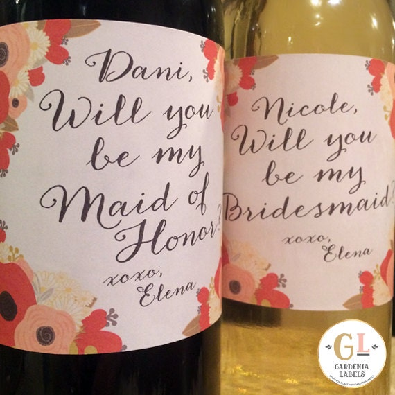 Bridesmaid Proposal Gift Will You Be My Bridesmaid Wine
