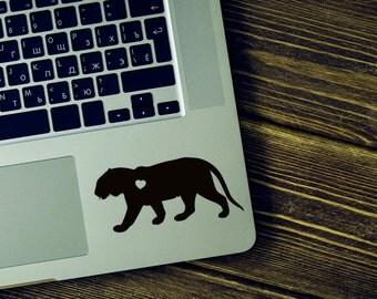 Tiger Vinyl Decal Sticker -  Tiger silhouette - tiger laptop decor