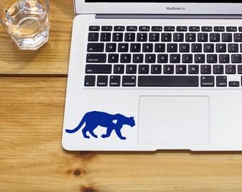 Mountain Lion w/ Heart panther sticker mountain lion sticker jaguar decal Car Laptop Vinyl Decal Sticker