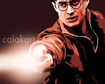 HARRY POTTER - Harry Potter Digital Drawing - 11x14 Poster Print
