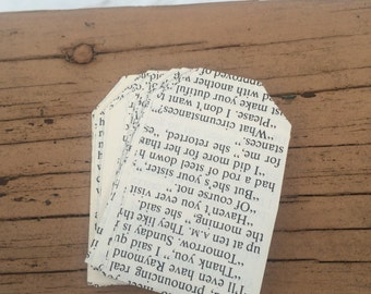Book Page Gift Tags ~~~ 30 Count