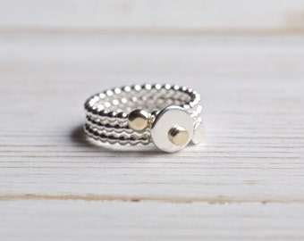Stacking Ring, Set of Three Sterling Silver Stacking Rings, Hammered Stack Rings, Sterling Silver Jewelry, mothers day