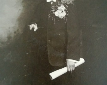 Vintage Photo of Boy in Suit Free Shipping