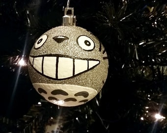 One My Neighbor Totoro Inspired Miyazaki Studio Ghibli Anime Shatterproof Hand-Painted Christmas Ornament! Available in 4 sizes!