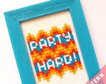 Party Hard Cross Stitch Pattern